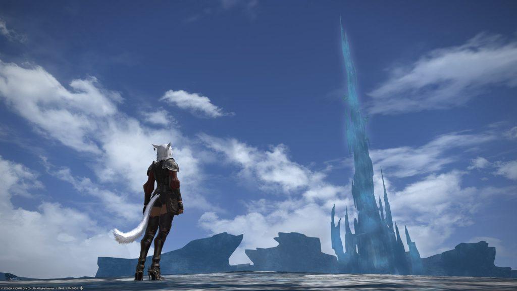escena de corte de la torre de cristal de final fantasy xiv