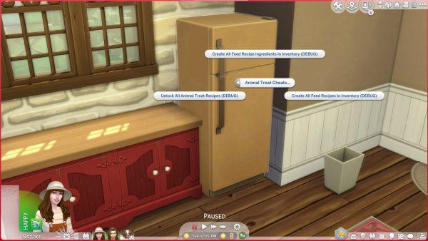 Golosinas para mascotas de Los Sims 4 Cottage Living