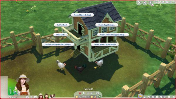 Trucos de pollo de los Sims 4 Cottage Living