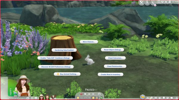 Sims 4 Consejos para el conejito viviente en la cabaña