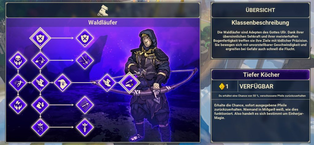 Árbol de habilidades de Tribes of Midgard Ranger