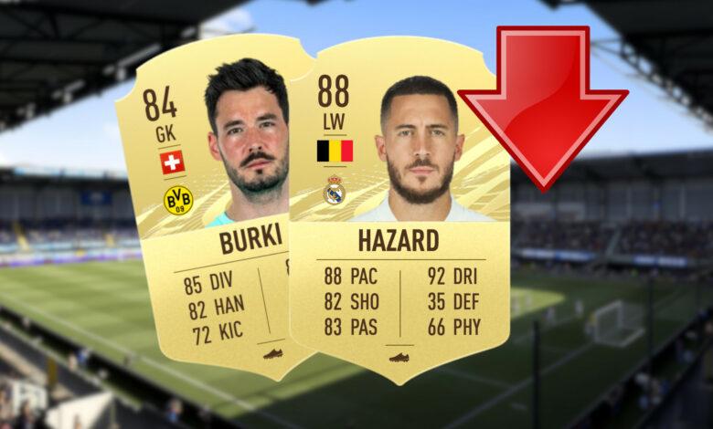 6 estrellas del fútbol que podrían obtener cartas significativamente peores en FIFA 22