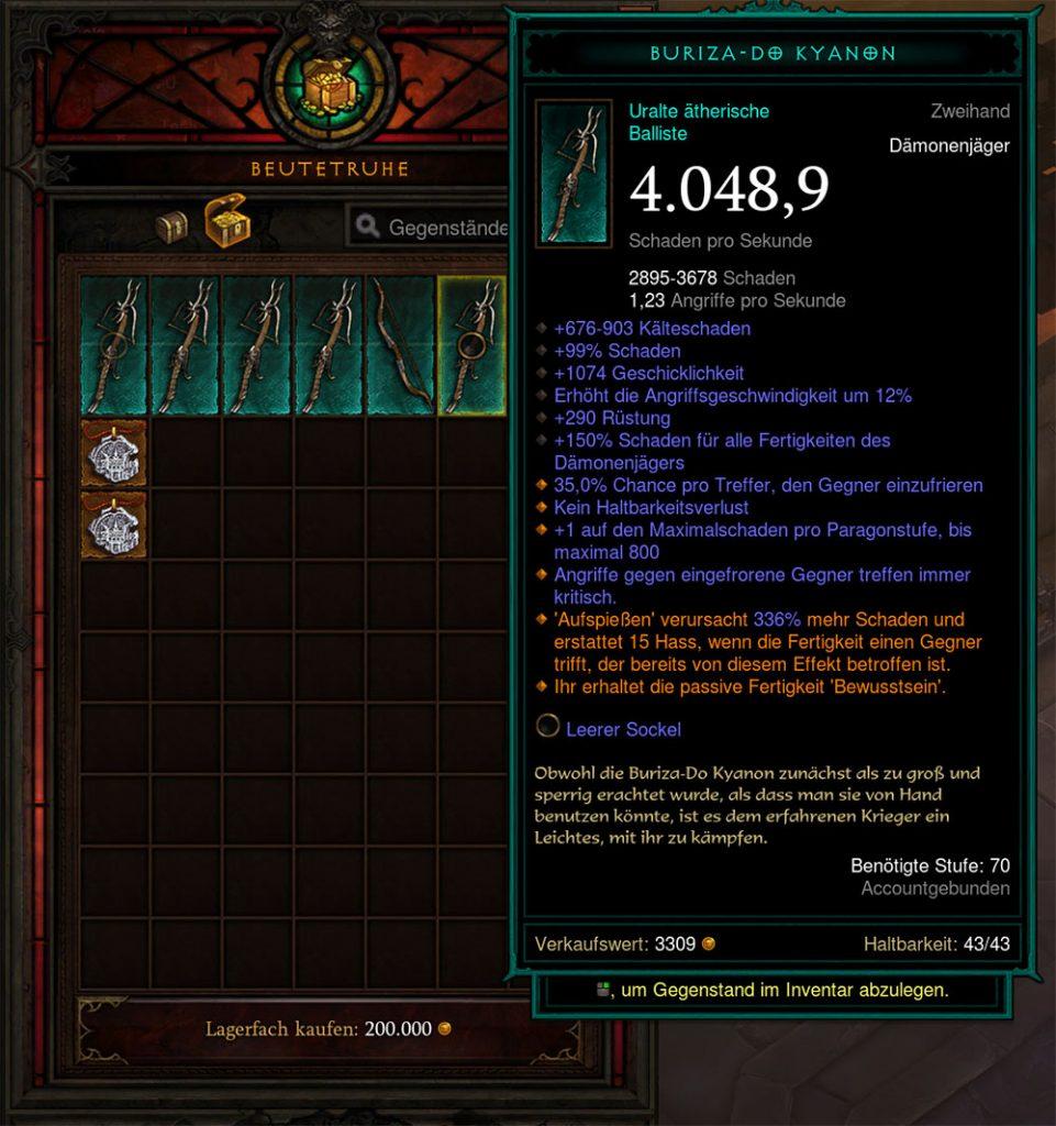 Diablo 3 Ethereal Weapon Temporada 24