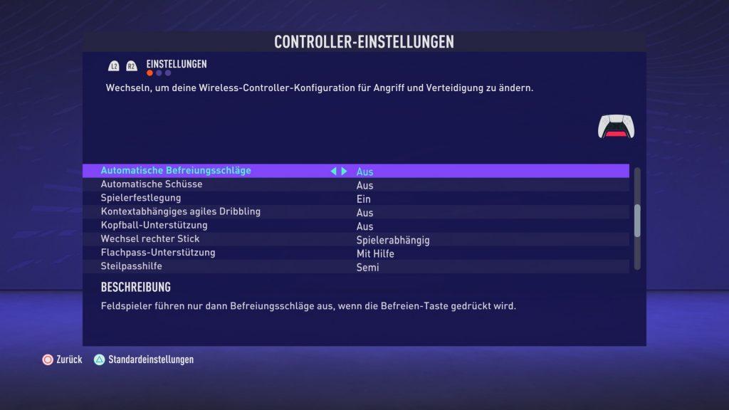 Configuración de FIFA 21