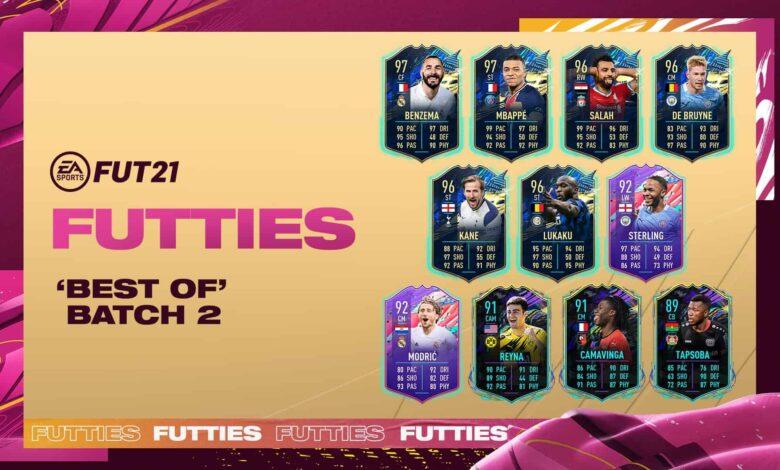FIFA 21: Batch 2 Best of FUTTIES ya está disponible en paquetes