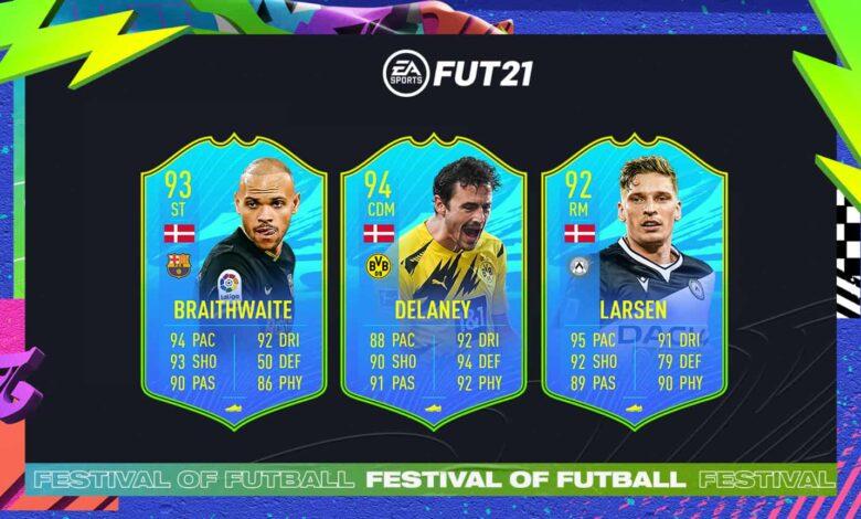 FIFA 21: SBC Delaney, Braithwaite y Larsen National Player Dinamarca - Festival Of FUTball