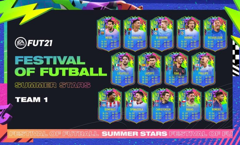 FIFA 21: Team 1 Summer Stars anunciado