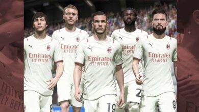 FIFA 22: la segunda equipación del Milan para la temporada 2021/22