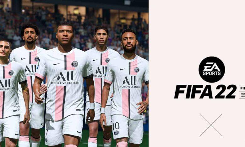 FIFA 22: se revela el uniforme de visitante del PSG para la temporada 2021/22