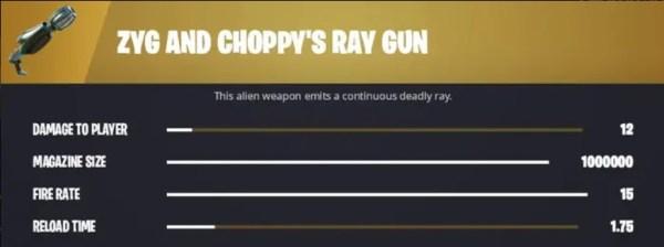fortnite zyg y choppy & # 39; s ray gun