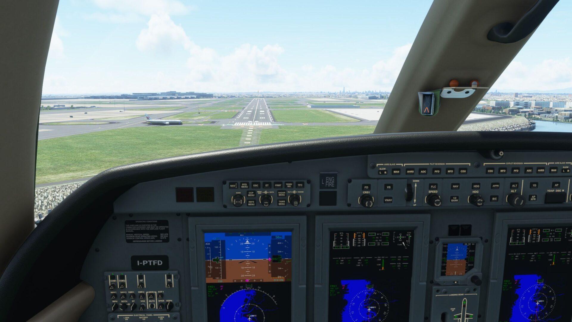 Piloto automático de Microsoft Flight Simulator