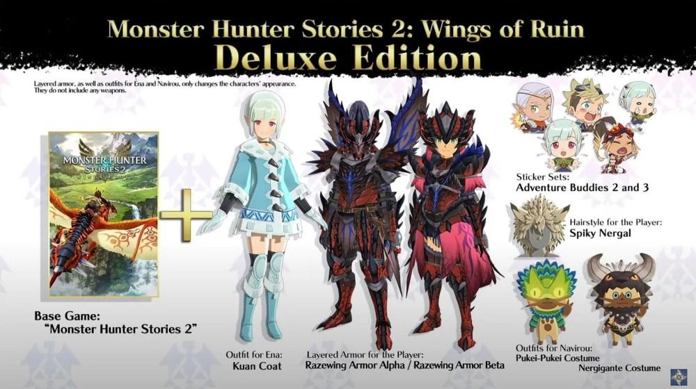 Monster Hunter Stories 2 dlc edición de lujo