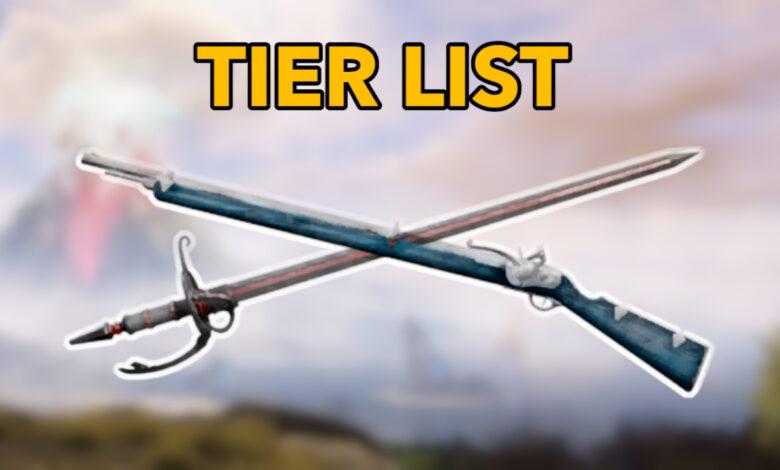 New World: Las mejores armas para PvE y PvP - Lista de niveles