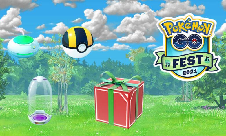 Pokémon GO está distribuyendo artículos de regalo para el GO Fest 2021, pero no para todos