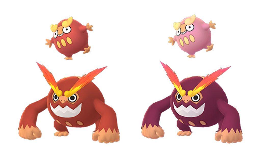 Familia Pokémon GO Flampion Shiny