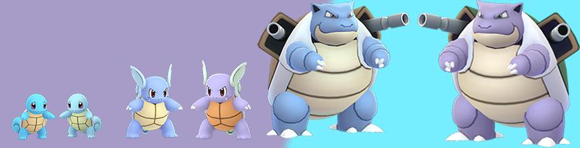 Pokémon GO Familia Squirtle Brillante