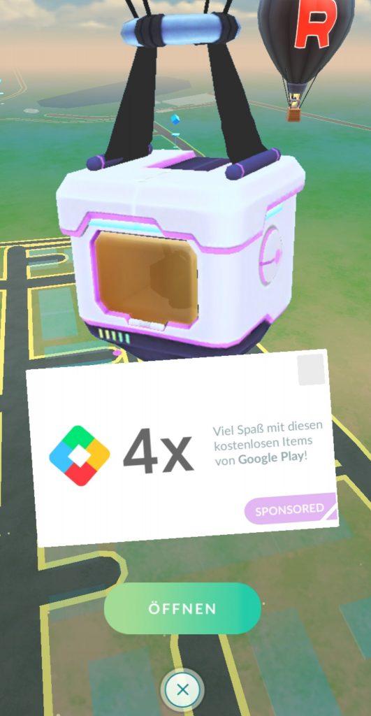 Regalos patrocinados con globos de Pokémon GO
