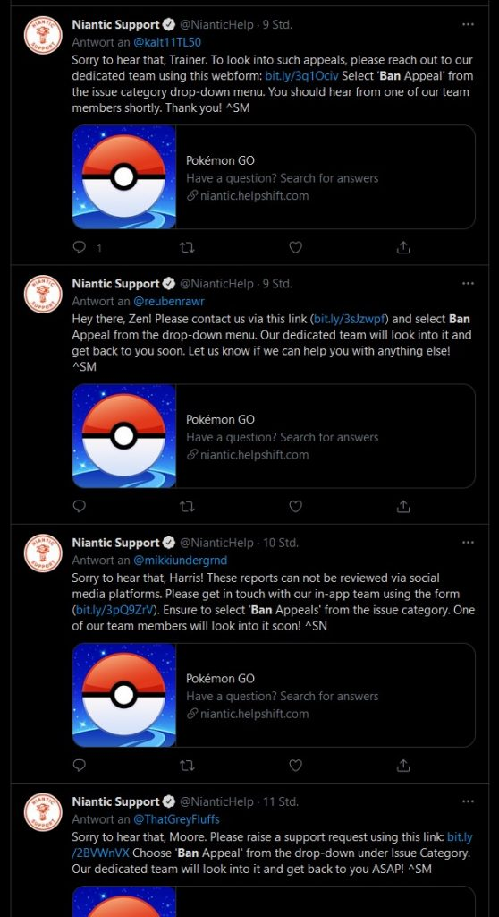 Prohibición de soporte de Pokémon GO Niantic
