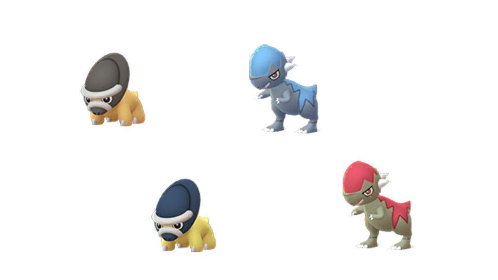 Pokémon GO Shiny Schilterus y Cocnodon