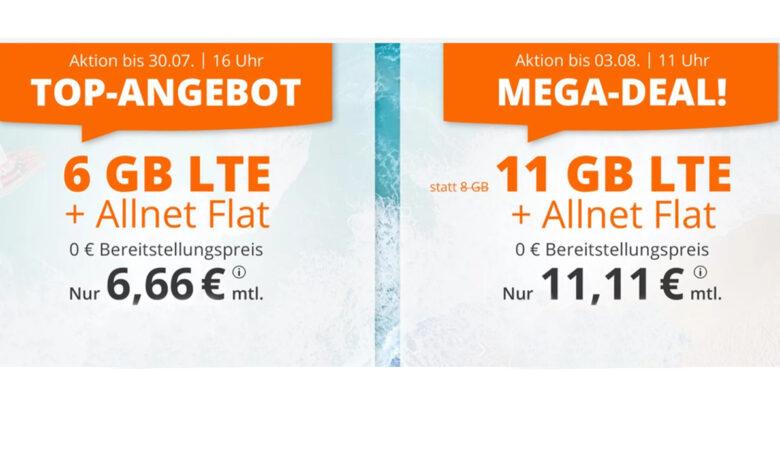 Tarifas económicas de telefonía móvil: volumen de datos de 6 GB con Allnet Flat por 6,66 euros