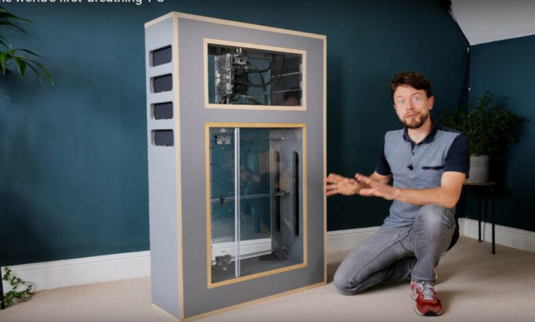 YouTuber construye una PC para juegos silenciosa con enfriamiento magnético, sin ventiladores, funciona como un pulmón