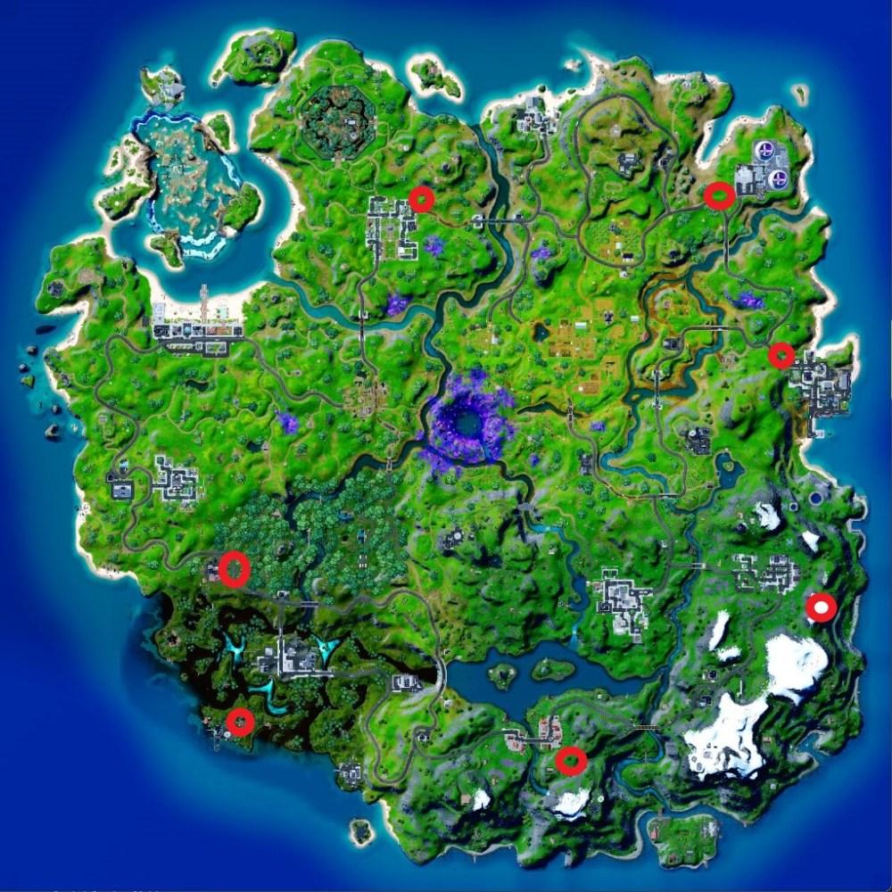ubicaciones de cofres cósmicos de fortnite
