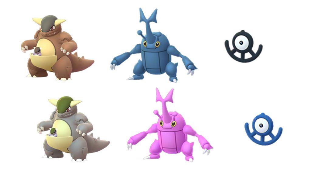 Pokémon GO Kangama, Scaraborn e Icognito U Shiny