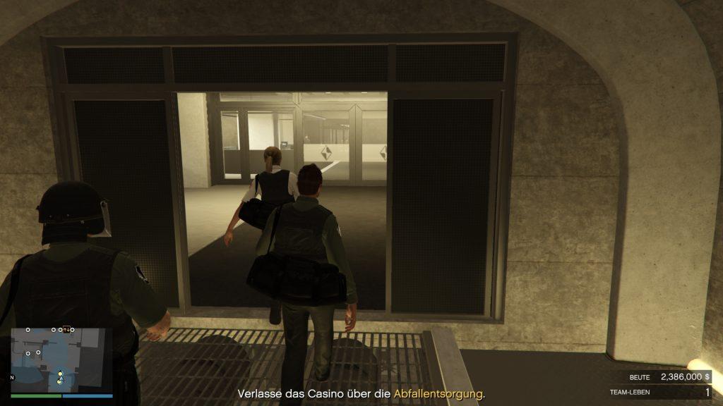 Ruta de escape de GTA Online Group Casino Heist