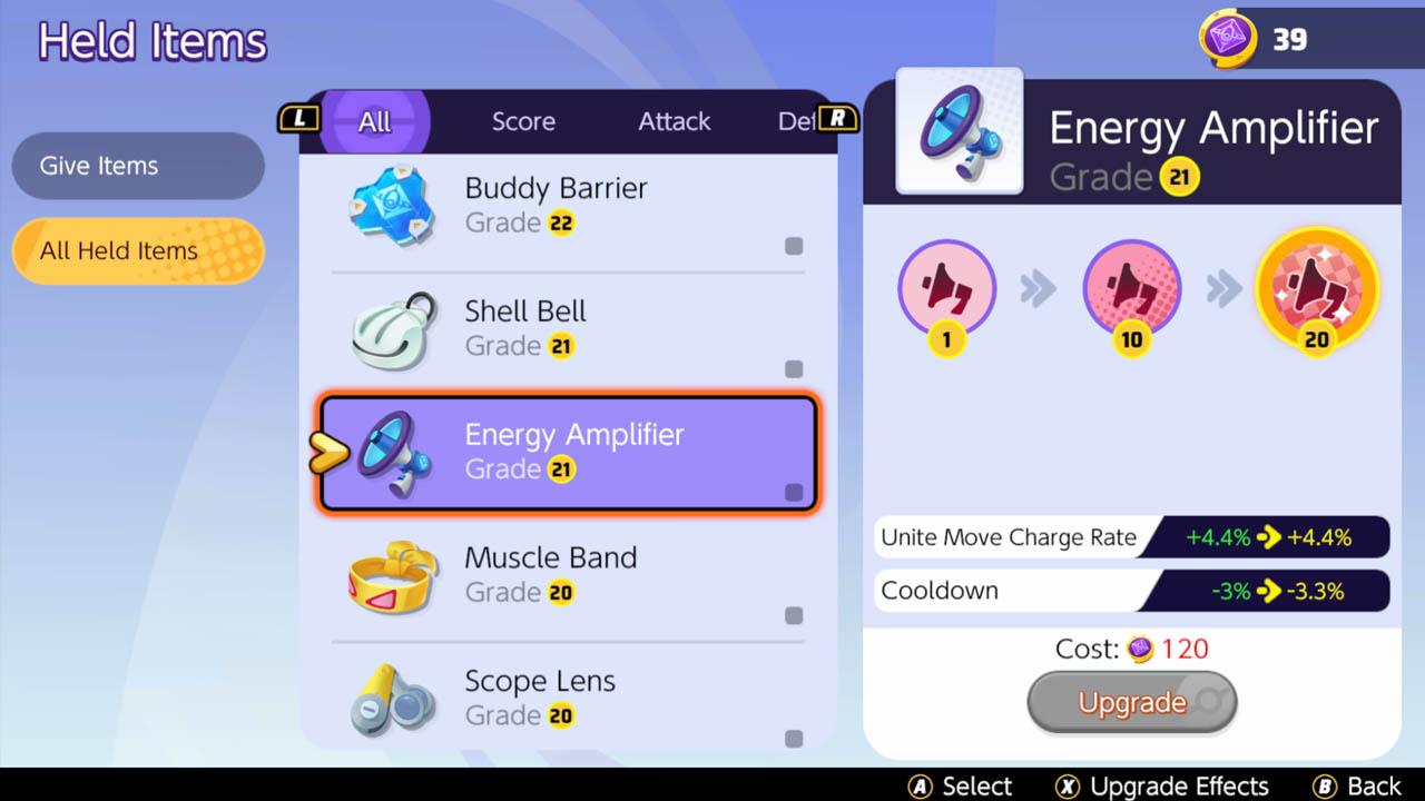 Amplificador de energía de objeto unificado
