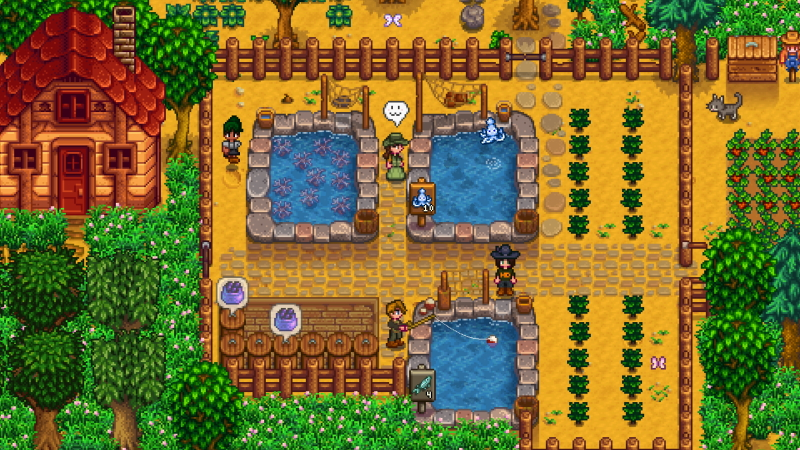 estanques de peces reequilibrados