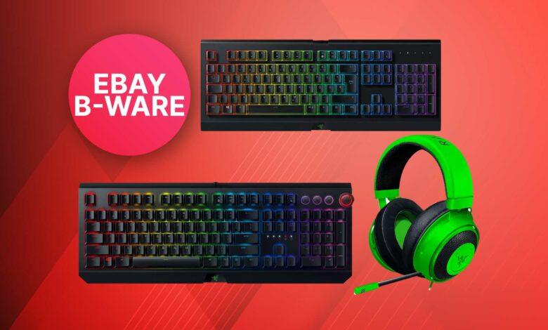 Productos B de eBay como nuevos: teclados y ratones para juegos Razer particularmente baratos