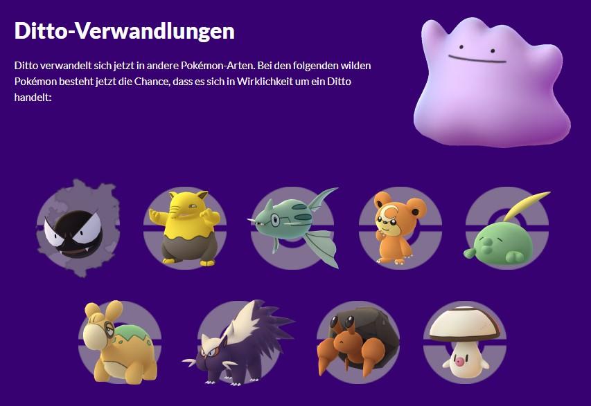 Pokémon GO Ditto transformaciones temporada de bromas pesadas