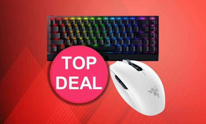 Mini teclado Razer al mejor precio y mouse blanco barato en Amazon