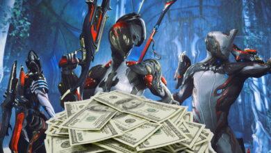El artista gana tanto dinero con máscaras de Warframe que financia a toda su familia