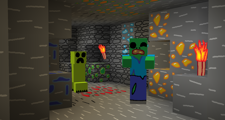 Minecraft MS Painted Zombie Creeper