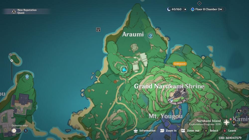 Mapa de Araumi del tesoro especial de impacto de Genshin