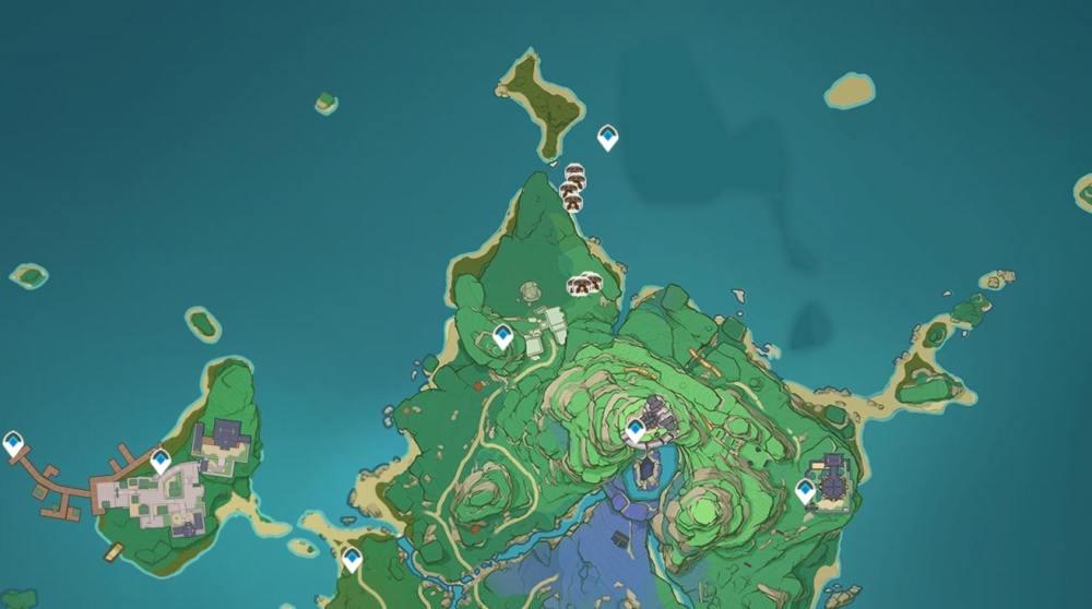 Ubicaciones de Ruin Sentinel Primera isla