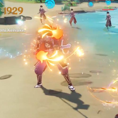Ryuukin-Lohe oponente afectado