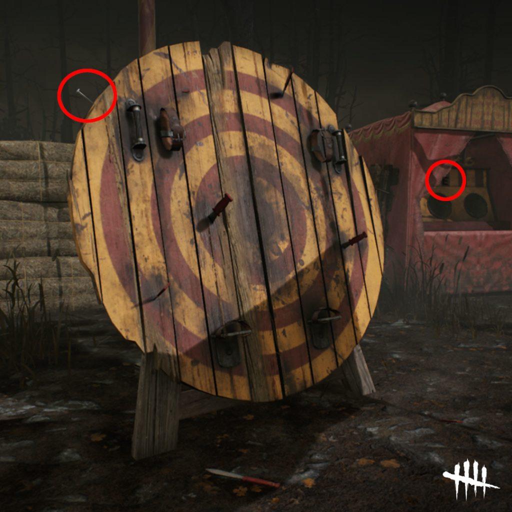 Dead by Daylight Bullseye Pinhead Clue (pista de cabeza de alfiler)