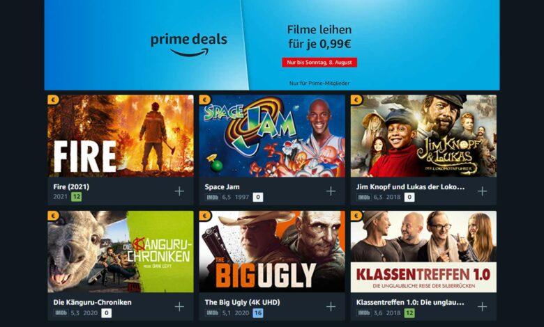Oferta de Amazon Prime Video: alquila 50 películas por 99 centavos cada una