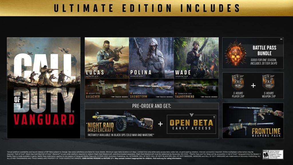 Pedido anticipado de CoD Vanguard Ultimate Edition