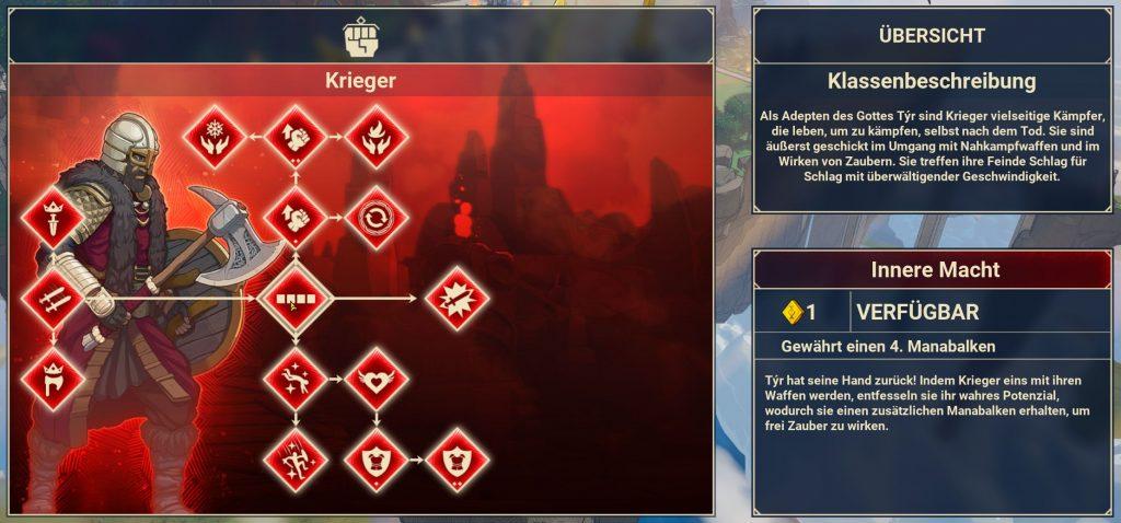 Árbol de habilidades del guerrero de las tribus de Midgard