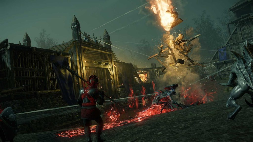 Explosión de asedio a la fortaleza corrupta del Nuevo Mundo