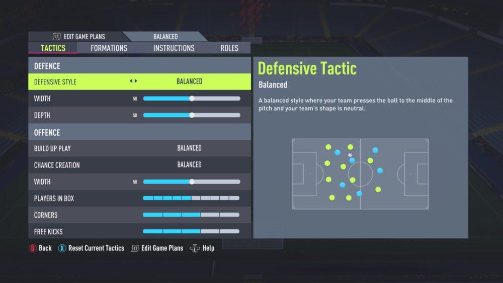 Tácticas personalizadas de FIFA 22