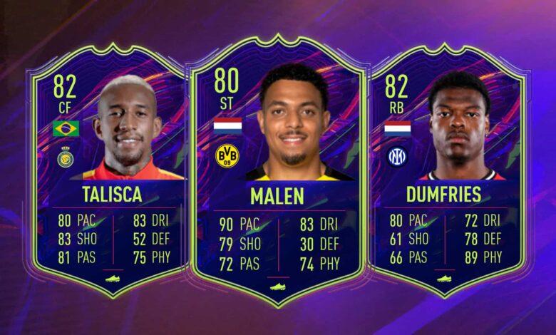 FIFA 22: Anuncia las cartas OTW de Dumfries, Malen y Talisca