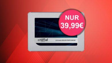 Crucial MX500-SSD con 500GB actualmente más barato que nunca en la oferta de Amazon