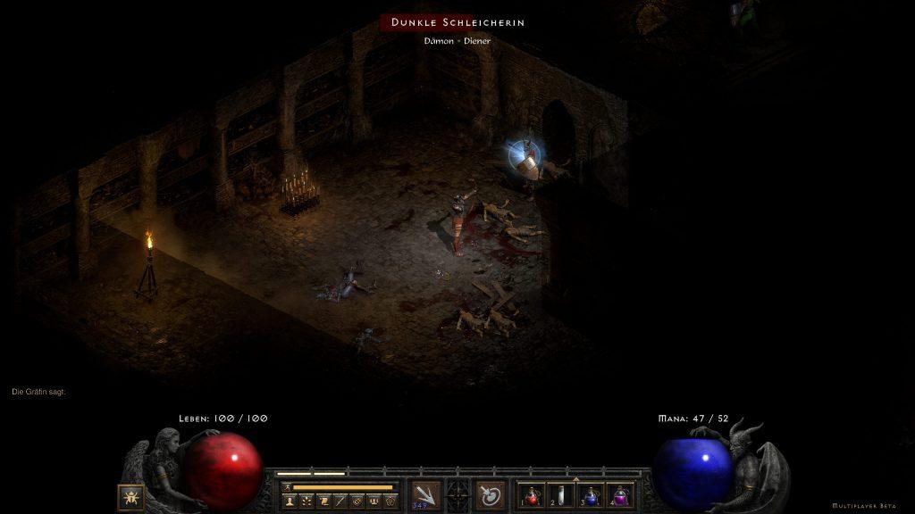Jugabilidad de captura de pantalla de Diablo 2
