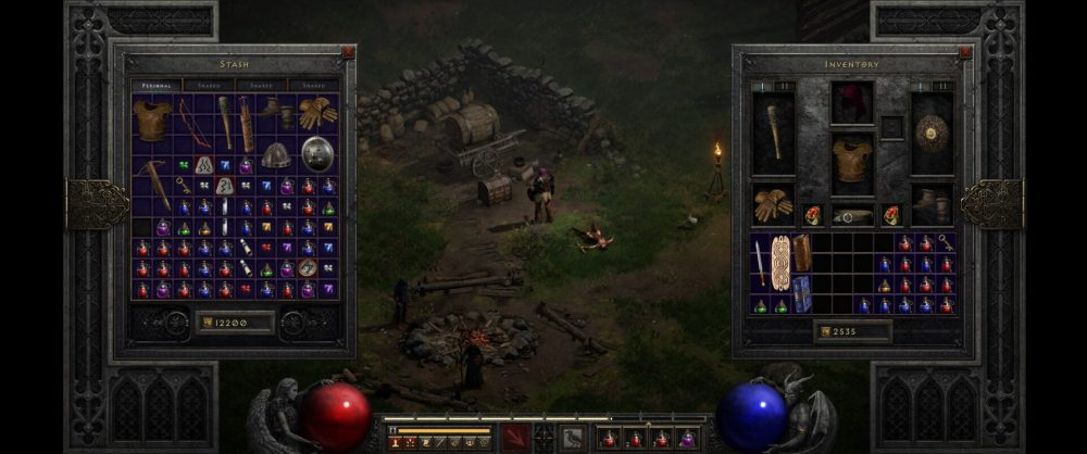 Diablo 2 tamaño de inventario resucitado
