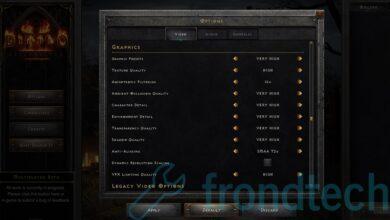 Diablo 2 Resurrected Graphics Settings