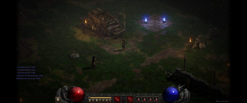 Barras negras ultraanchas Resurrected de Diablo 2